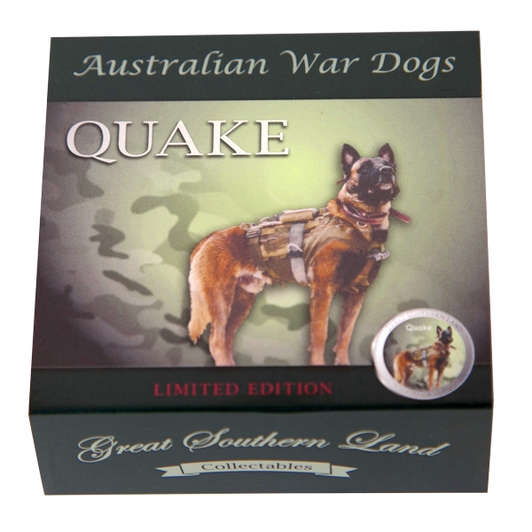 Australian War Dogs - Quake Silver Coin - Box Outer