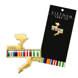 BN14588 - Vietnam Map Campaign Ribbon Lapel Pin