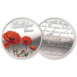 BN14618 - Silver Plated Poppy Medallion In Gift Box