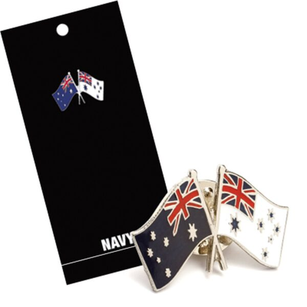 BN17481 - Australian Flag & Ensign Lapel Pin