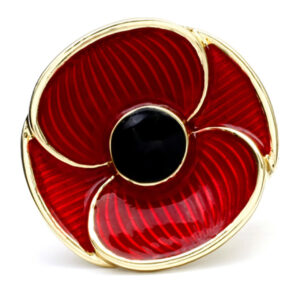 Remember Red Poppy Recollections Brooch