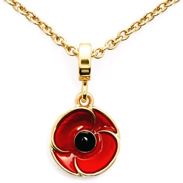 Red Poppy Recollections Pendant Necklace