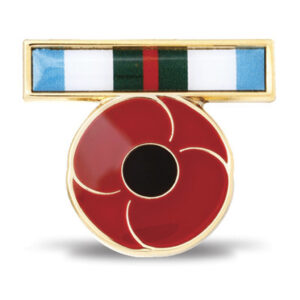 BN45207 - INTERFET Ribbon Poppy Lapel Pin