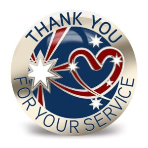 BN45210 - Thank You For Your Service Badge