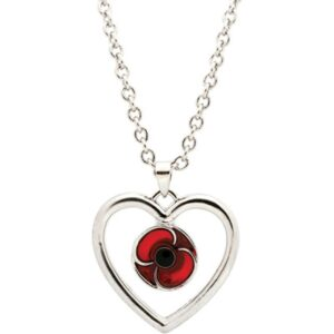 Red Poppy Keep True Pendant Necklace