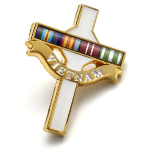 BN5535 - Long Tan Cross Lapel Pin