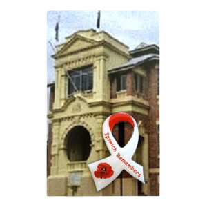 Ipswich Remembers Poppy Ribbon Lapel Pin