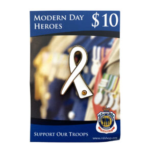 Modern Day Heroes Support Our Troops Ribbon Lapel Pin
