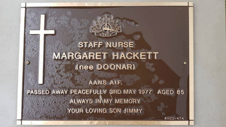 Staff Nurse Margaret Hacket nee Doonar